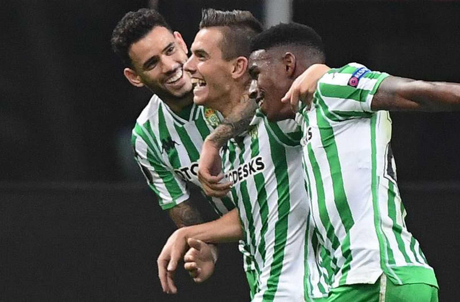 Lo Celso celebra el segundo gol anotado ante el Milan.