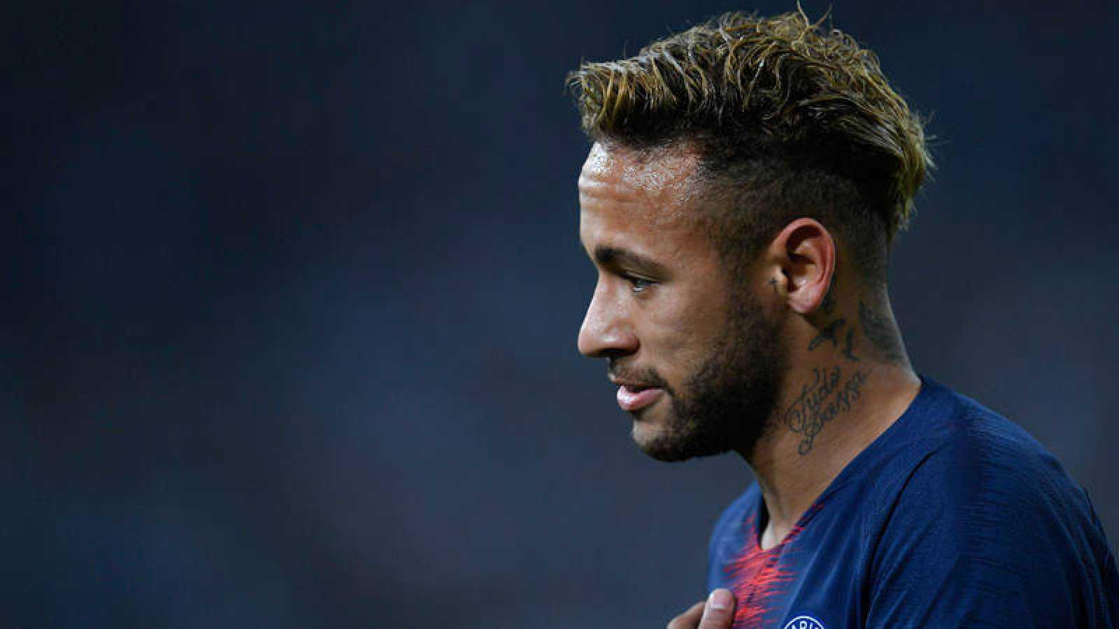 Neymar Jr., en un partido del PSG.