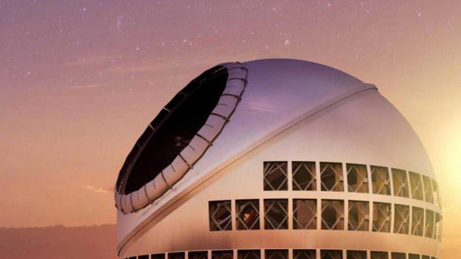 Recreación del telescopio de treinta metros TMT