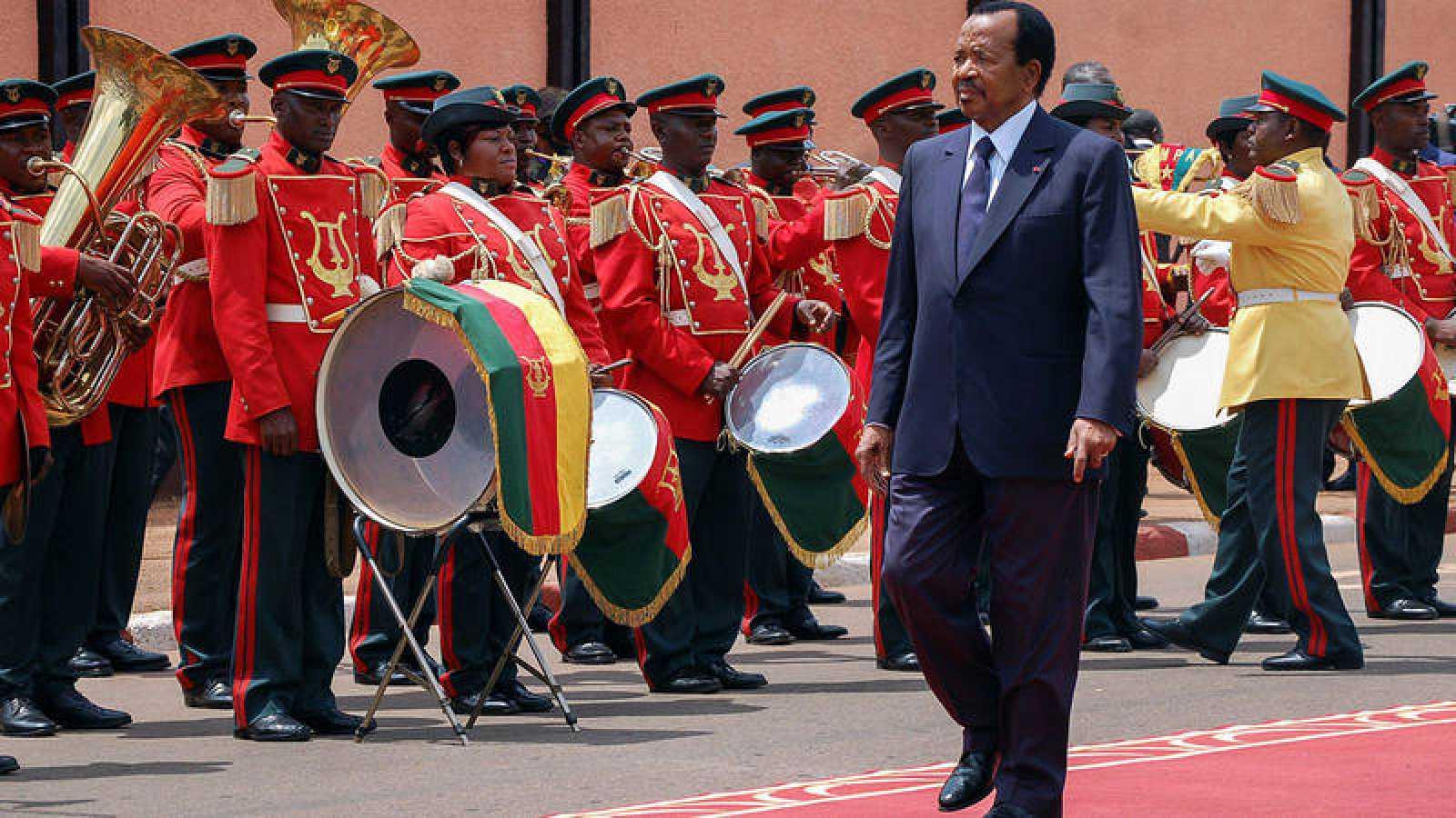 El presidente de Camerún, Paul Biya, durante la ceremonia de este martesen la que ha jurado su cargo ante la Asamblea Nacional para un séptimo mandato, en Yaundé.
