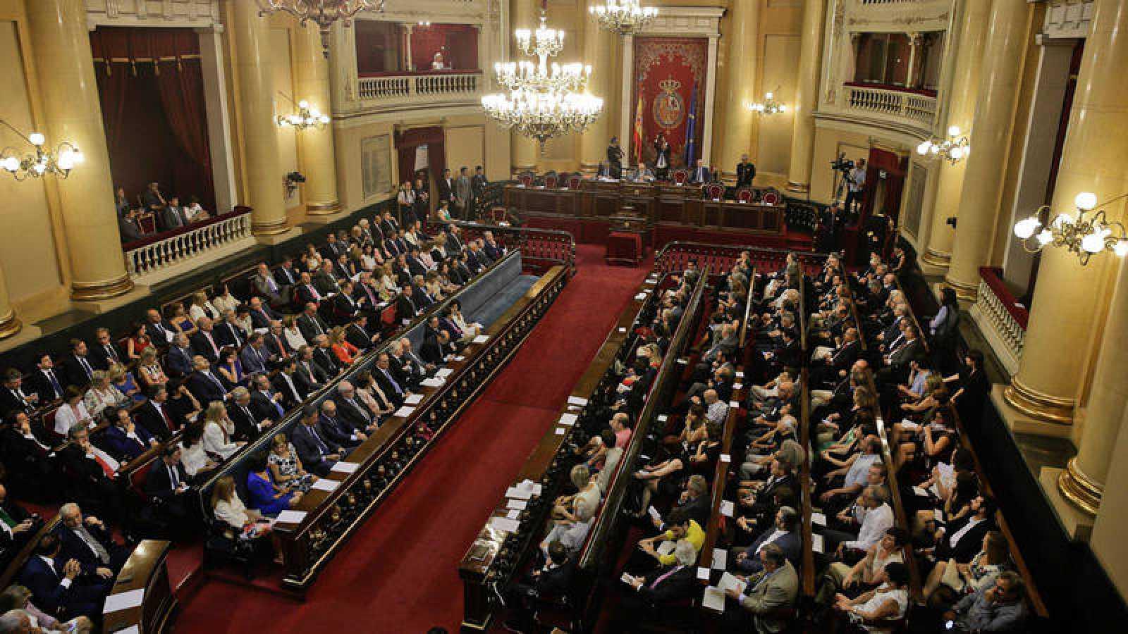 Vista general del Senado durante la sesión constitutiva de la duodécima legislatura el 19 de julio de 2016.