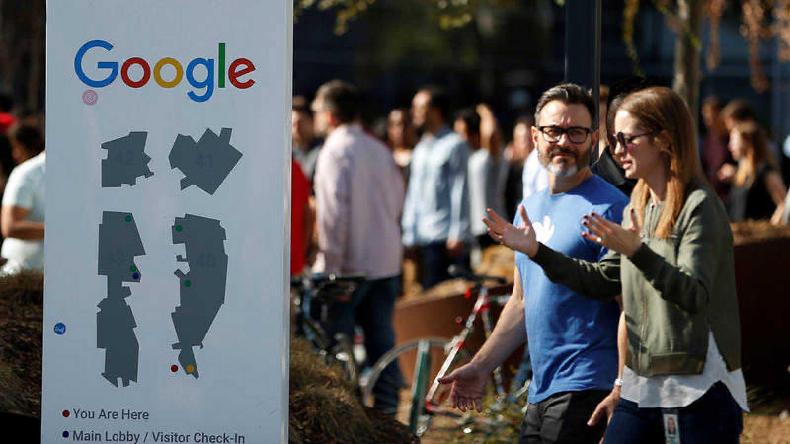 Protesta en las instalaciones de Google en California