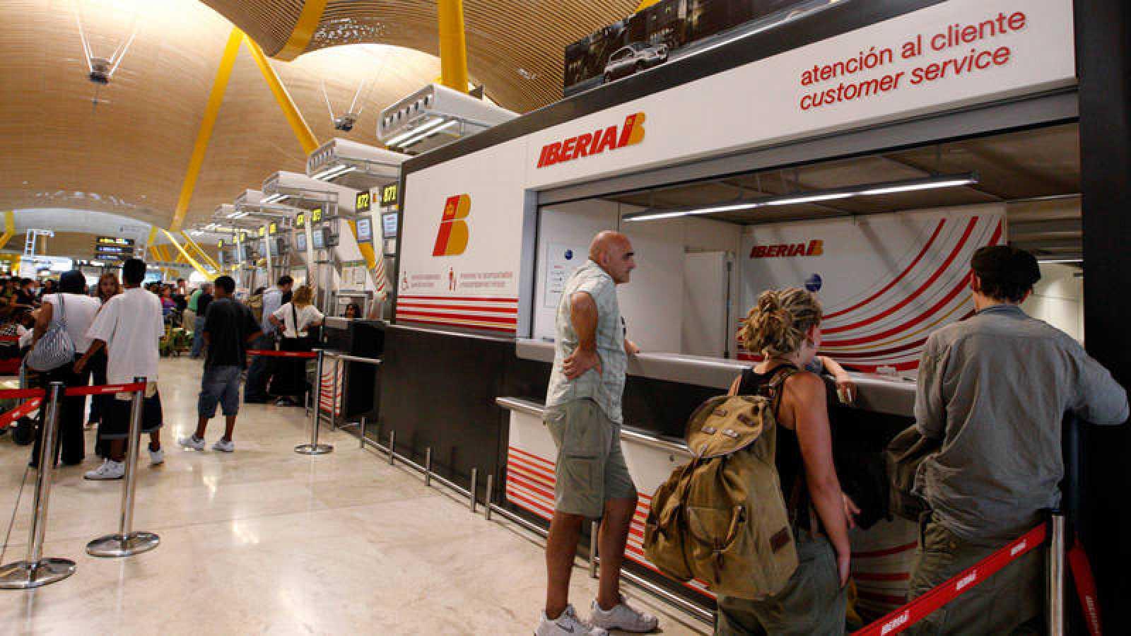 Mostrador de información de Iberia