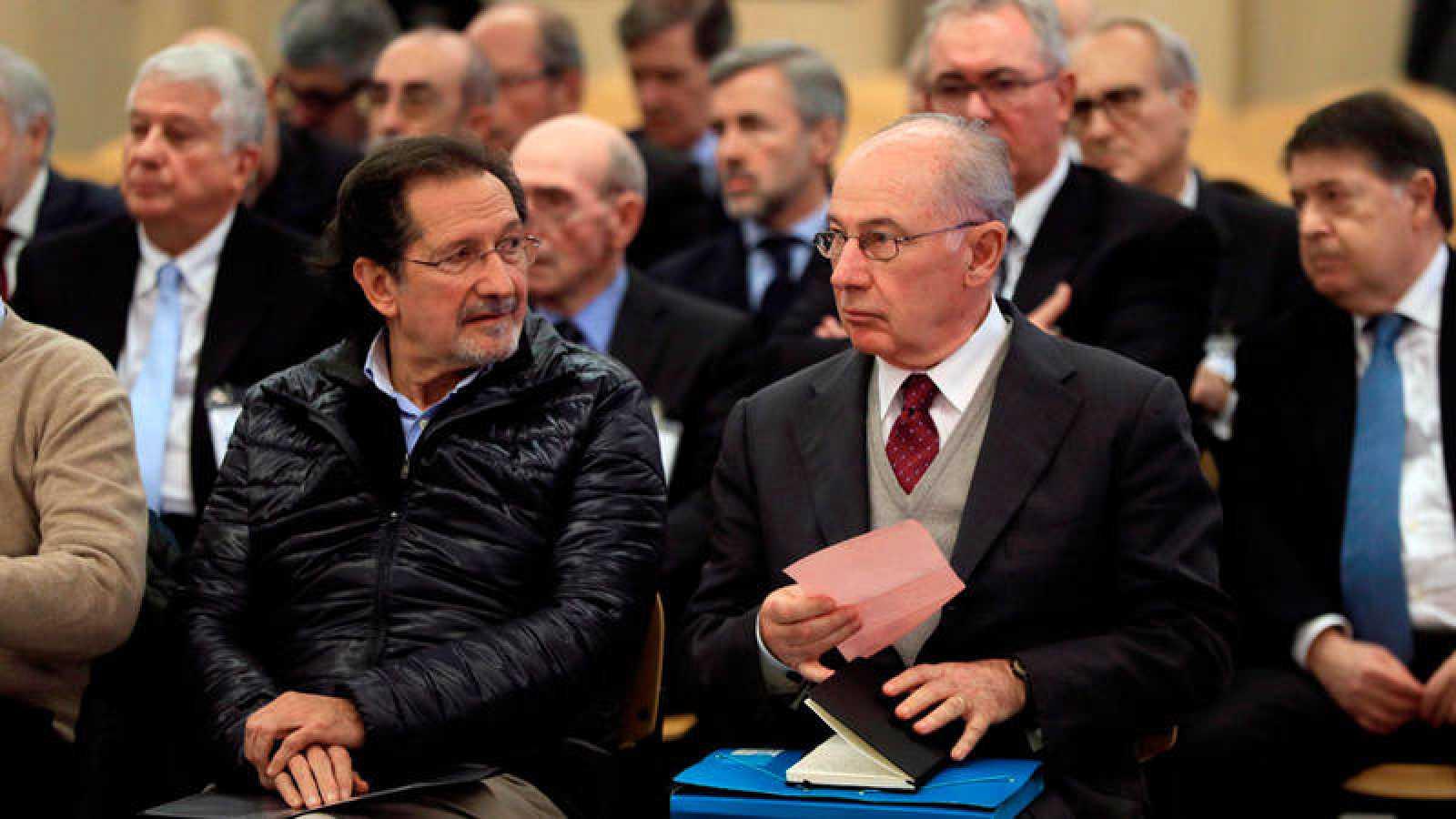 El expresidente de Bankia Rodrigo Rato junto al exconsejero de Caja Madrid José Antonio Moral Santín