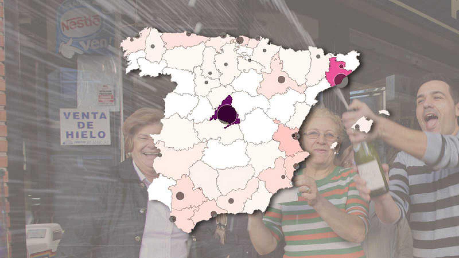 Consulta el mapa de la suerte detallado por provincias y ciudades