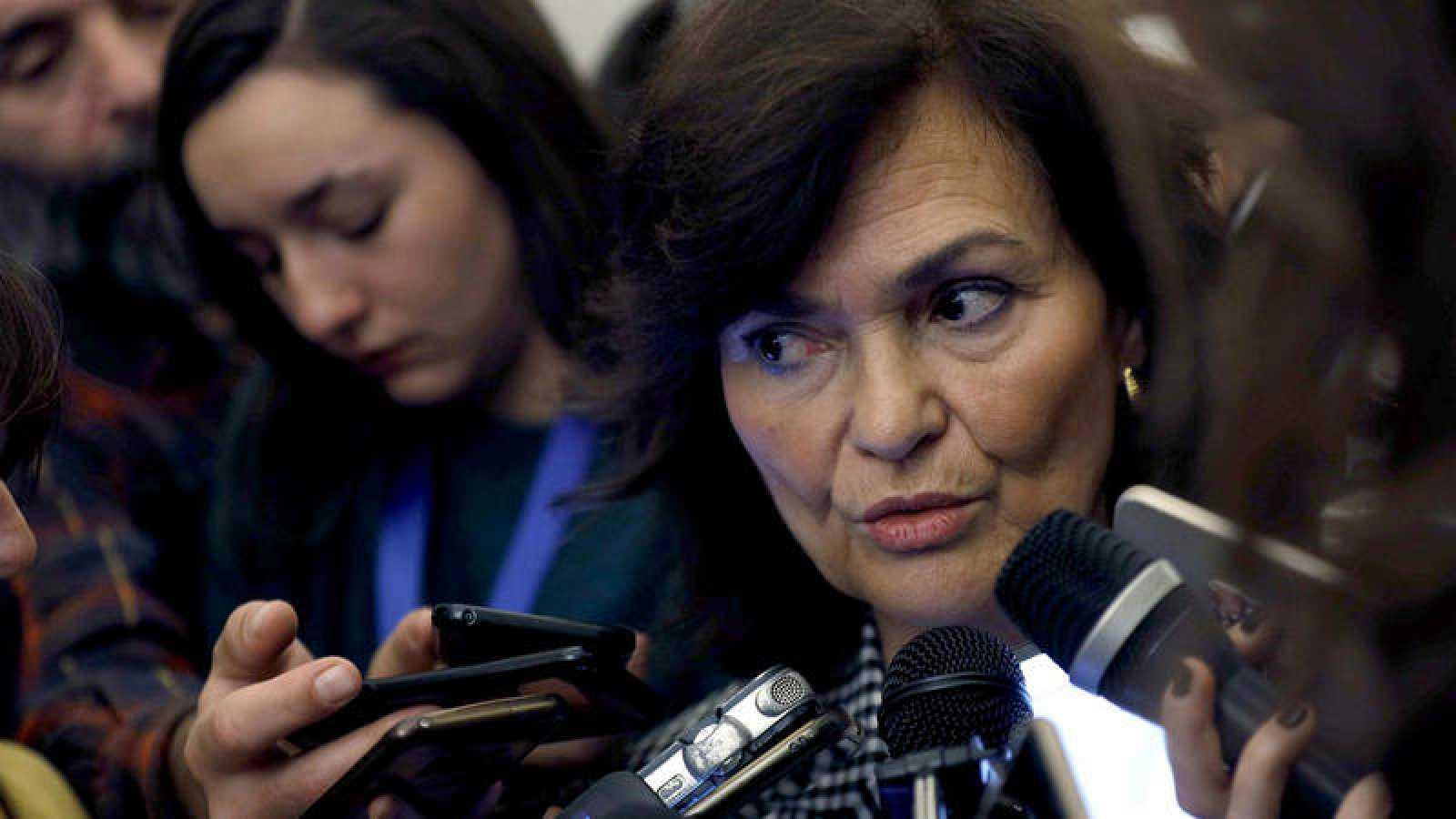 La vicepresidenta del Congreso, Carmen Calvo, en el Congreso EFE/Chema Moya