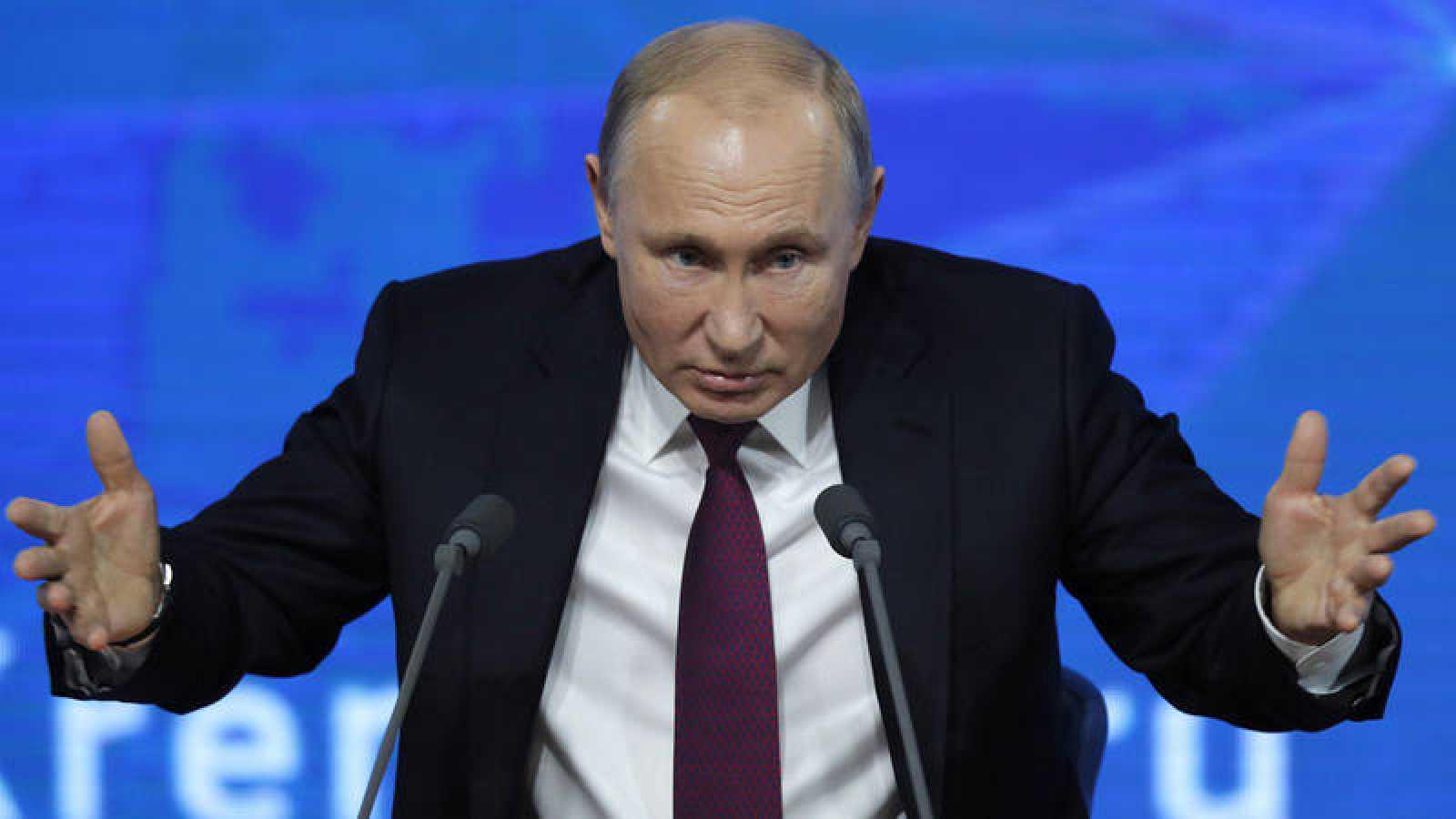 El presidente ruso, Vladímir Putin, ofrece su rueda de prensa anual en Moscú