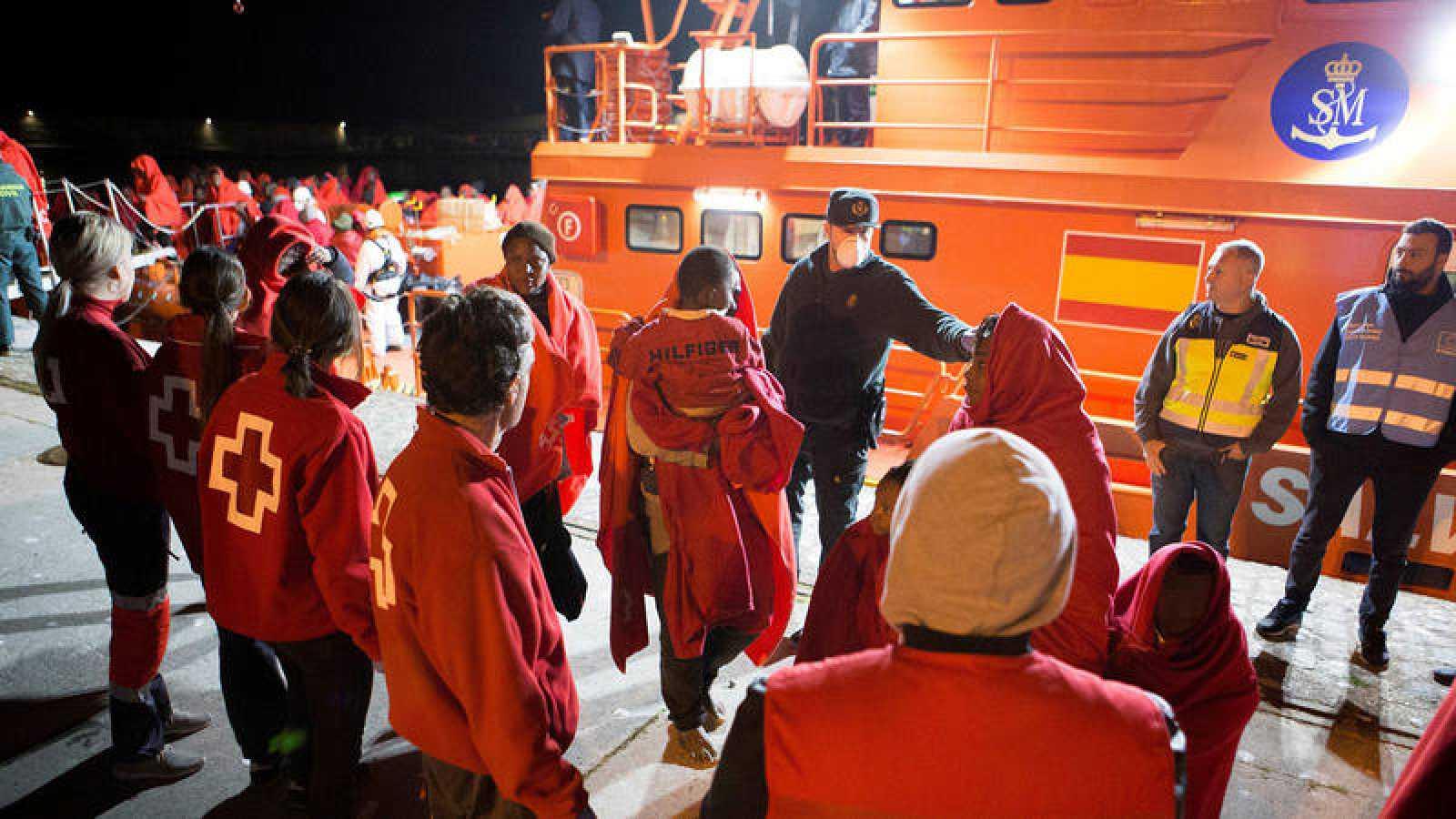 Imagen de archivo de uno de los últimos rescates de migrantes en 2018