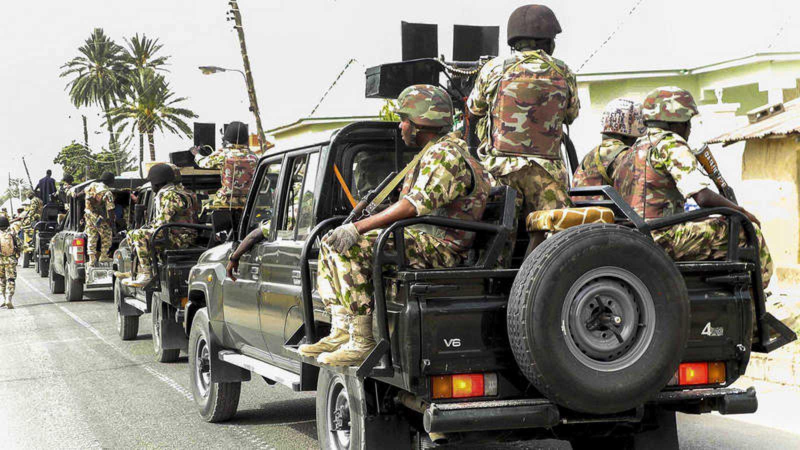 Fotografia de archivo de una operación militar contra Boko Haram en Nigeria