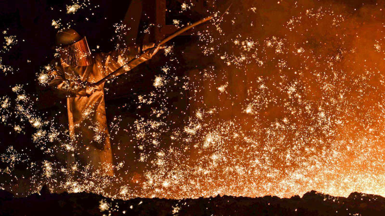 Trabajador de una acería en Baja Sajonia