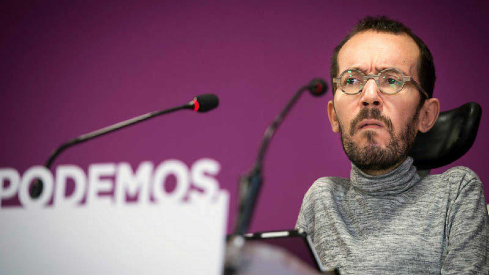 """Echenique cree que posponer las negociaciones con ellos """"responde a una estrategia"""" del PSOE"""