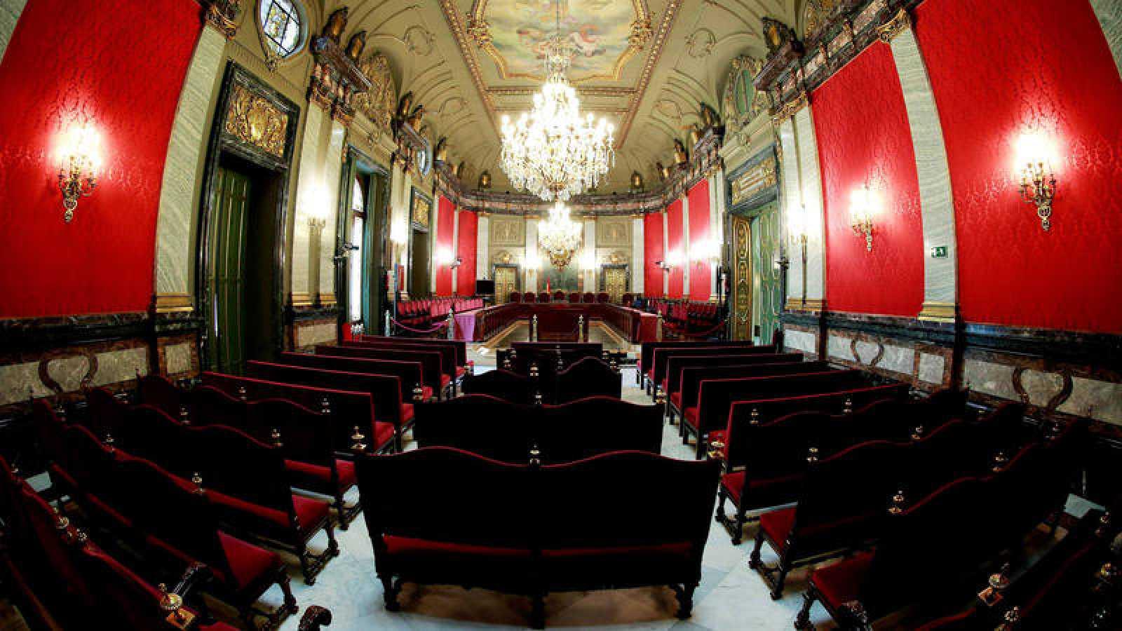 Vista general de la Sala Penal del Tribunal Supremo, donde se celebra el juicio