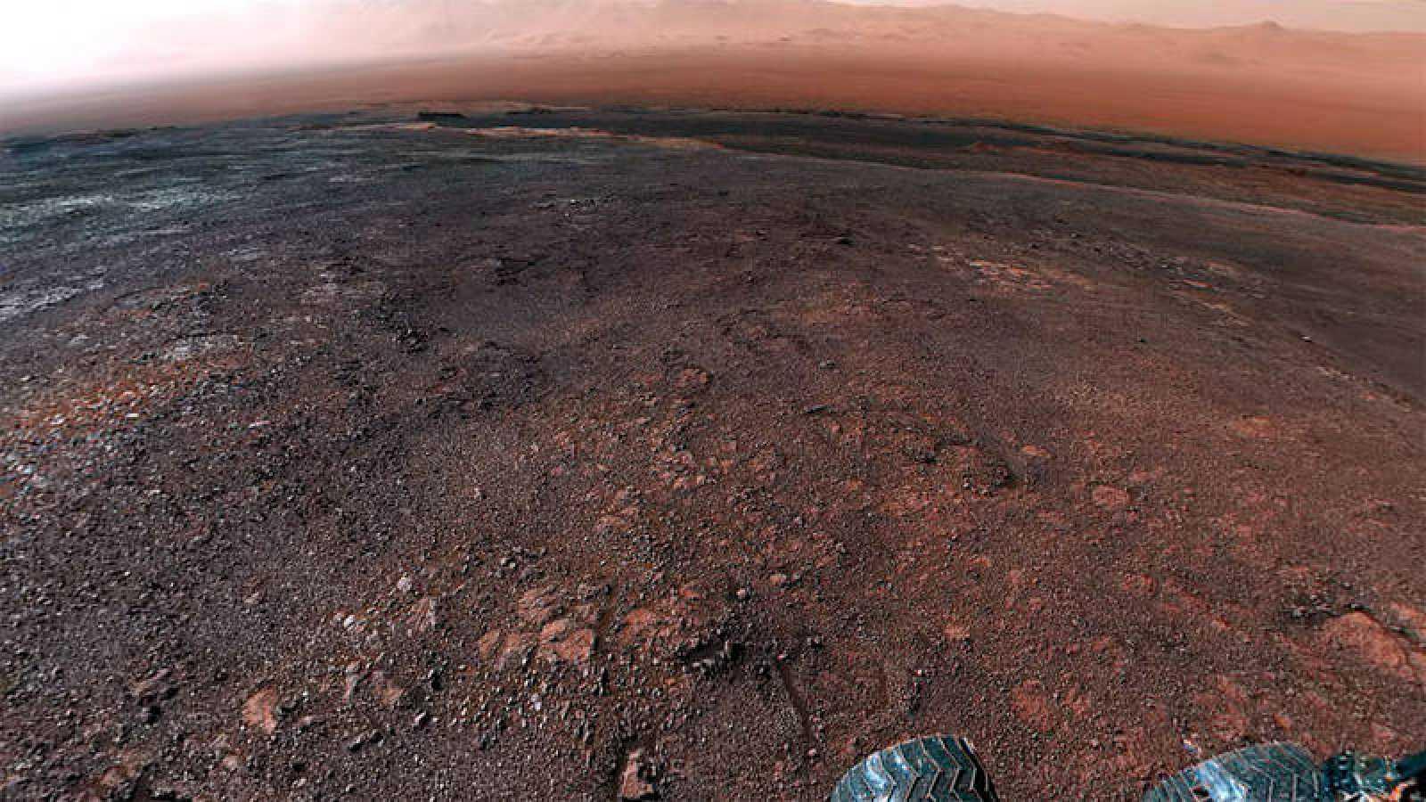 El vídeo se ha creado a partir de una panorámica tomada por el rover el 19 de diciembre.