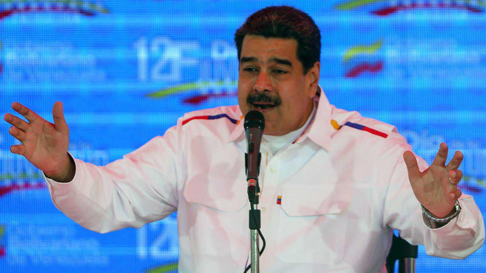 Nicolás Maduro, durante un discurso por el Día de la Juventud