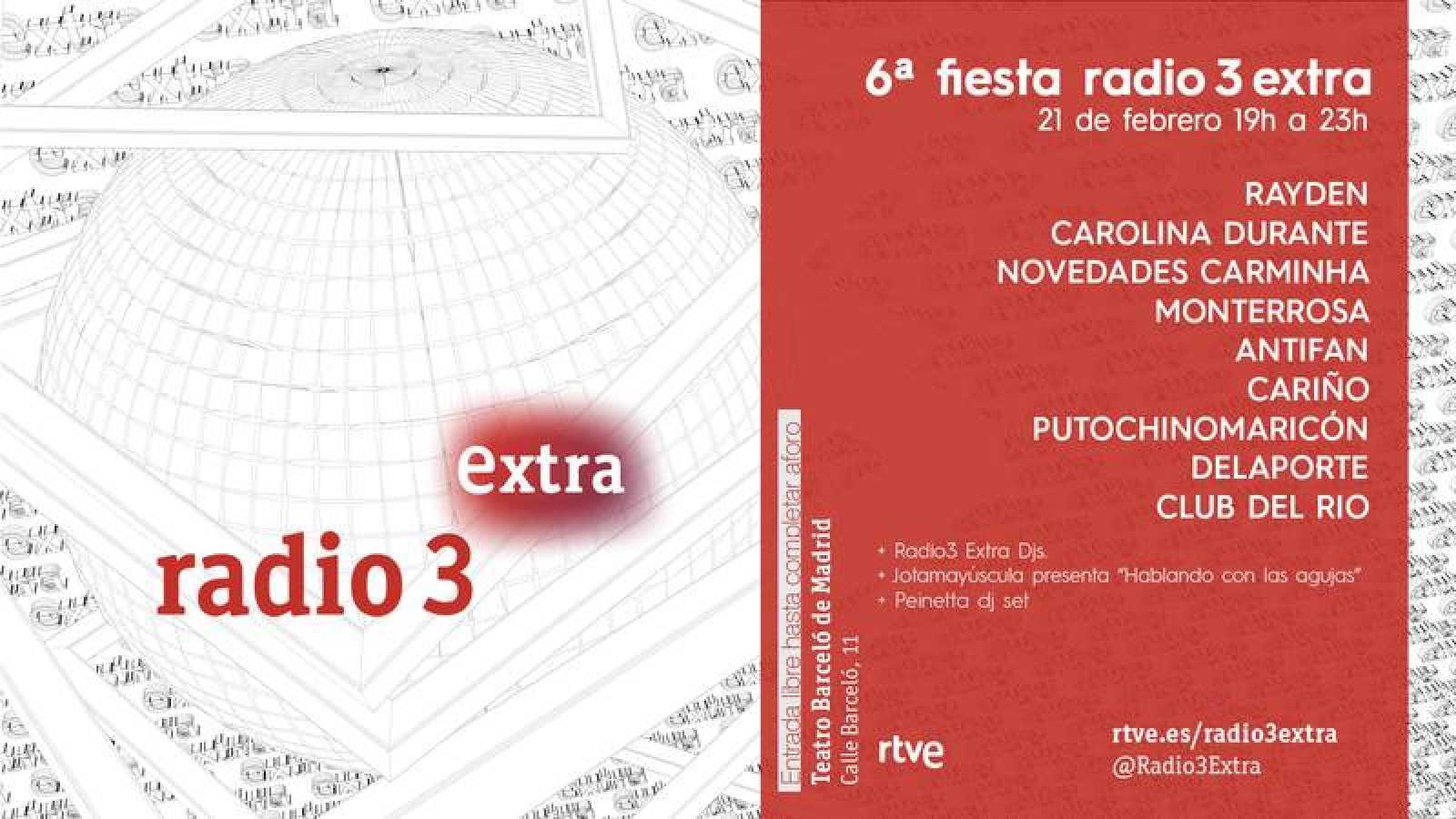 Cartel de la fiesta Radio 3 Extra