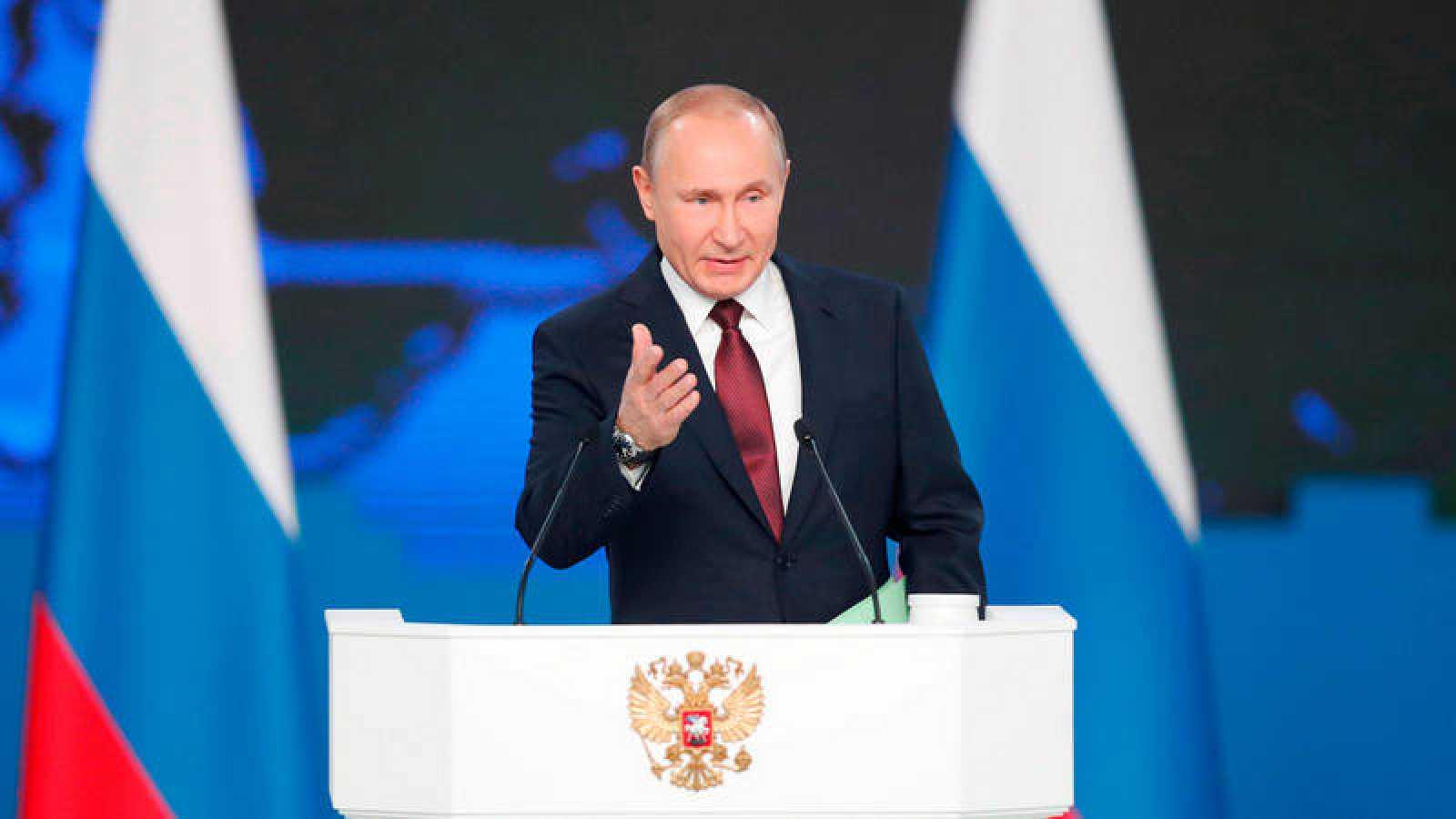 El presidente ruso, Vladimir Putin, presenta su informe anual sobre el estado de la nación