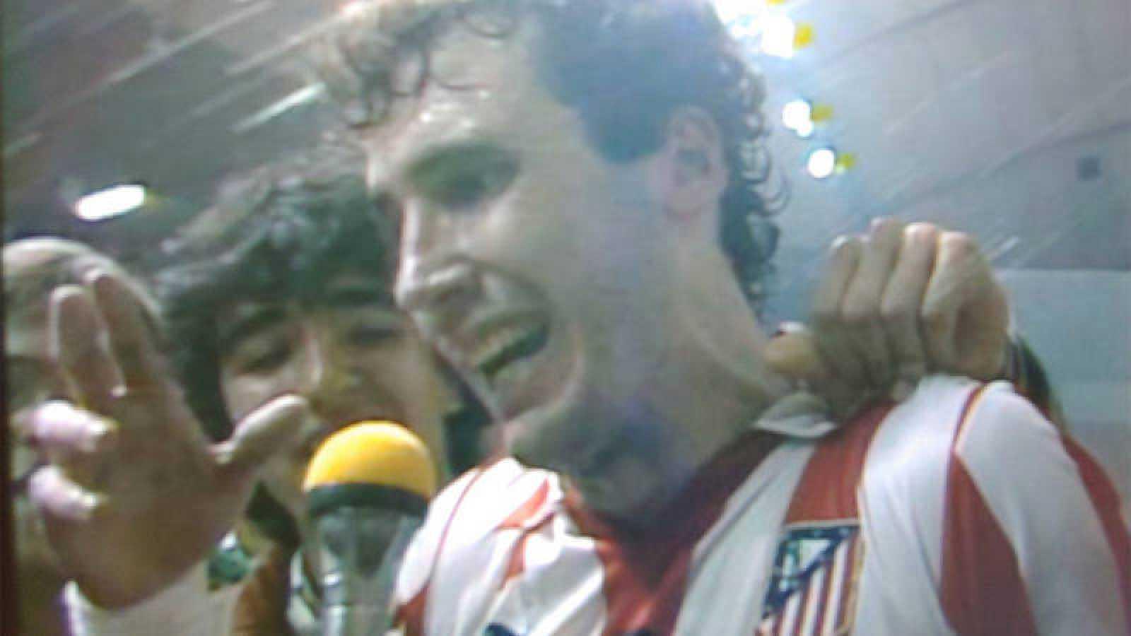 Cecilio Alonso en su etapa como jugador de balonmano del Atlético de Madrid.