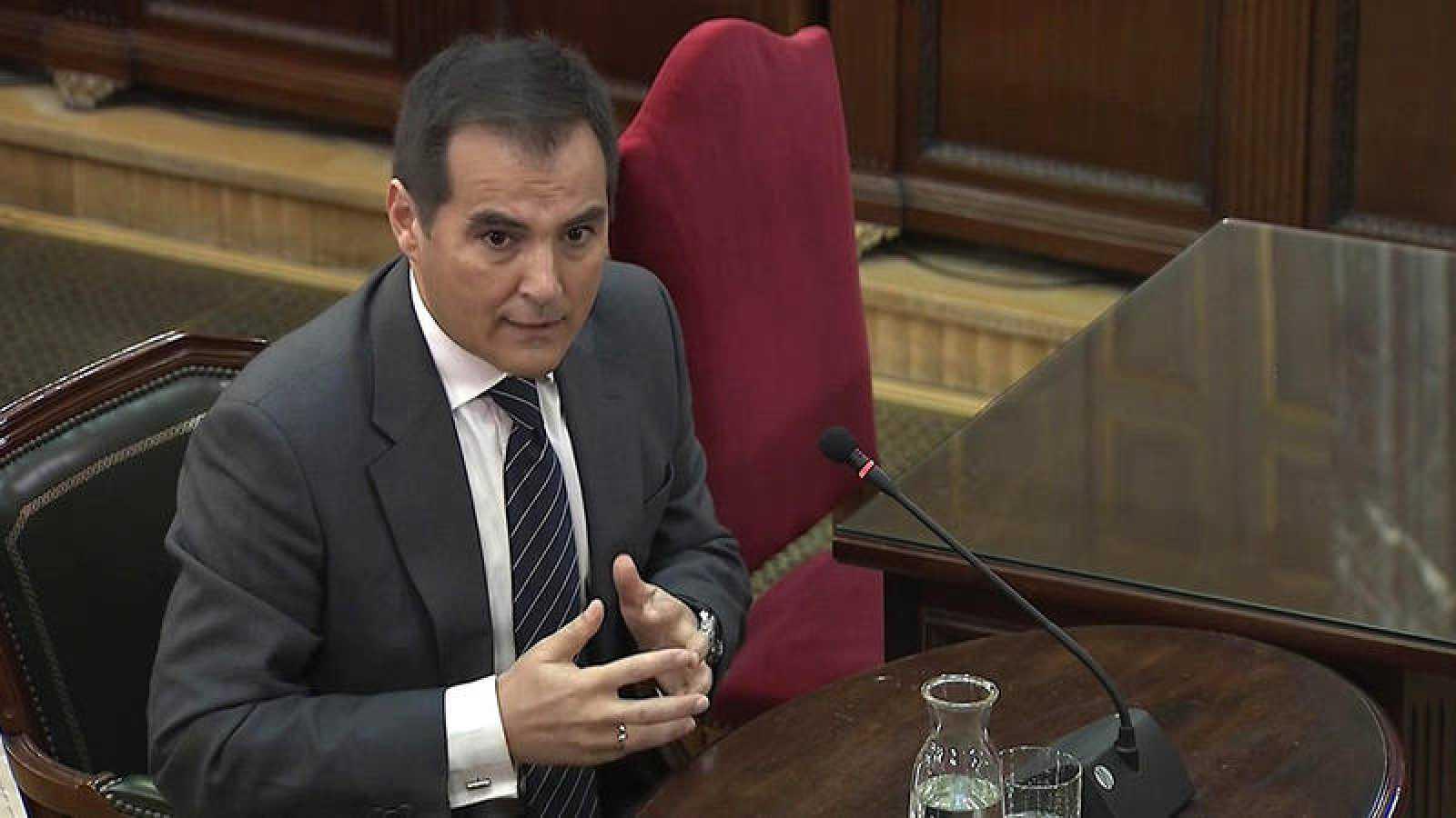 El exsecretario de Estado de Seguridad José Antonio Nieto, durante su declaración en el Tribunal Supremo. Efe/Tribunal Supremo
