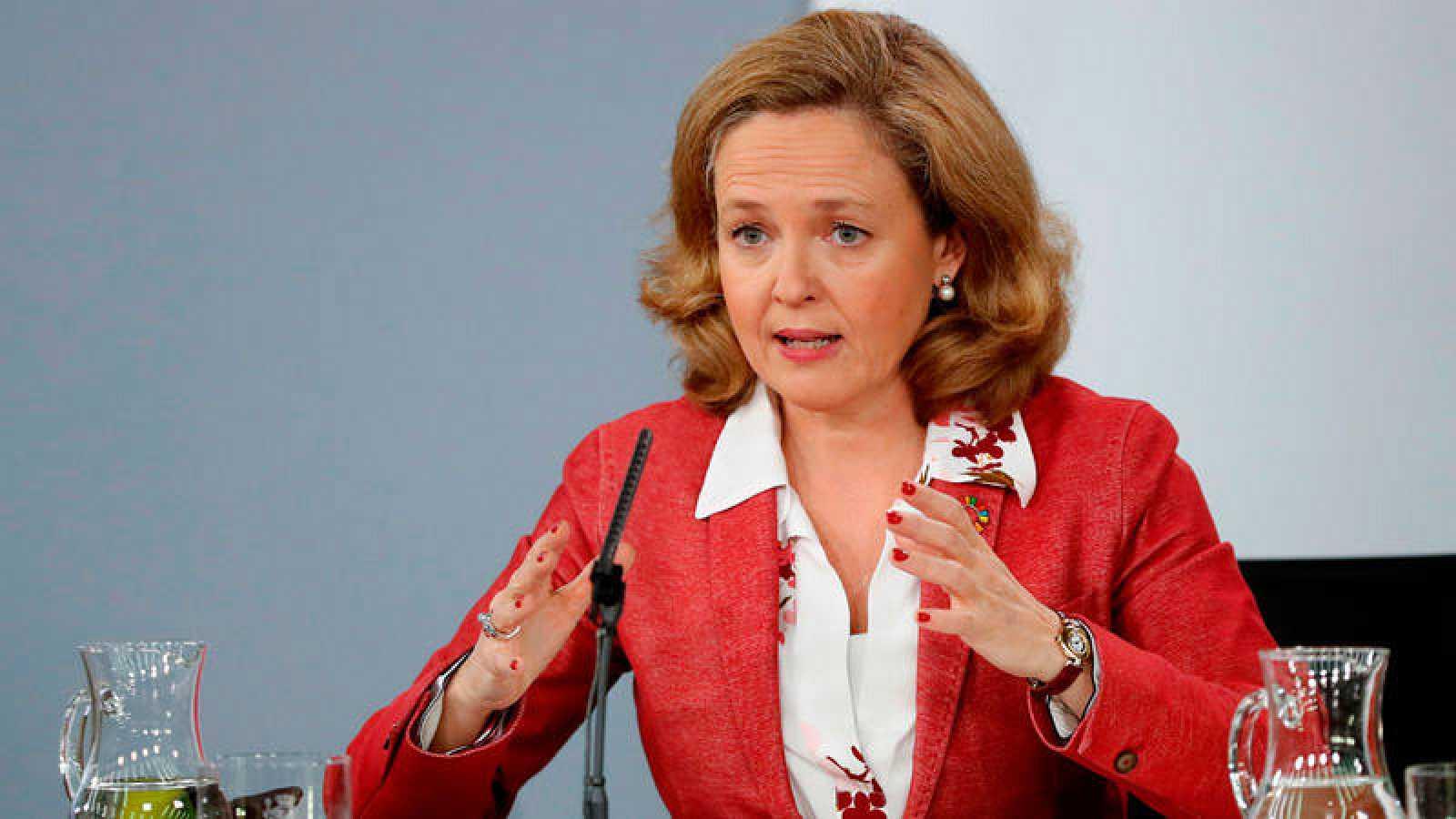 Imagen de archivo de la ministra de Economía, Nadia Calviño.