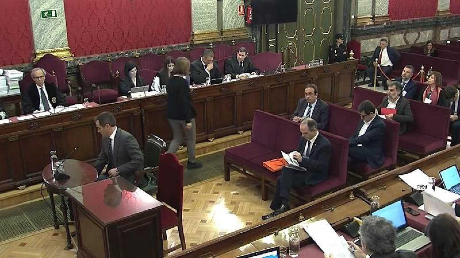 Un momento de la duodécima sesión del juicio del 'procés' en el Tribunal Supremo