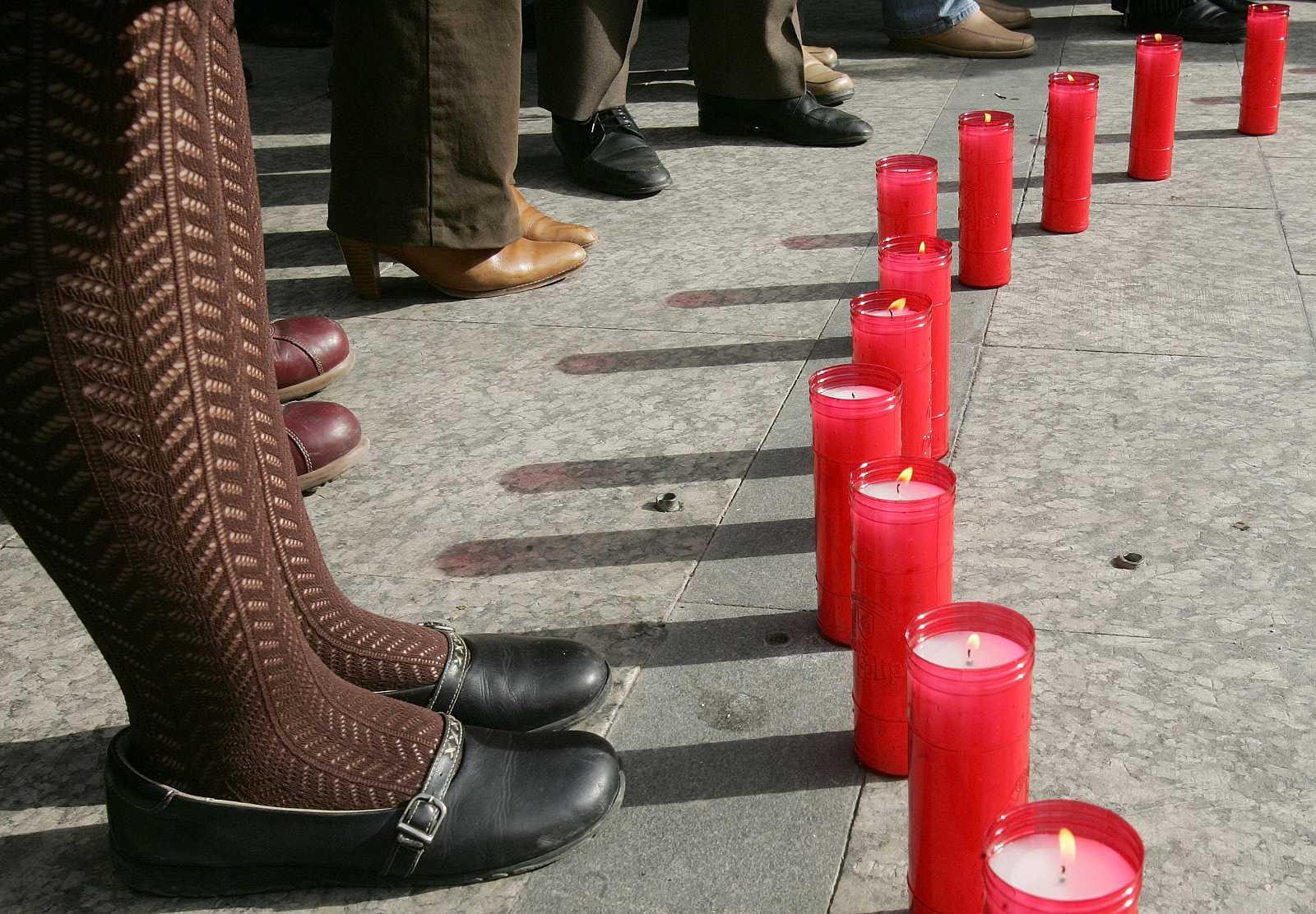 Imagen de archivo de un homenaje a victimas por violencia machista