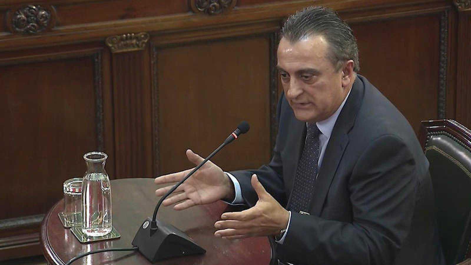 Captura de la señal institucional del Tribunal Supremo del comisario Manel Castellví, exjefe de Información de los Mossos d'Esquadra. Efe