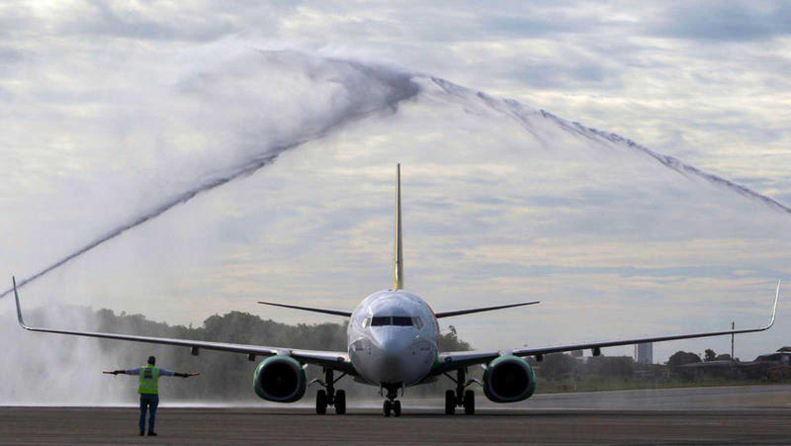 Imagen de archivo de un Boeing 737-800 Max después de su vuelo inaugural.
