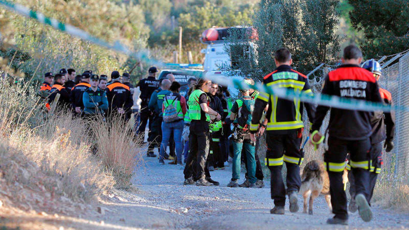 La Guardia Civil buscando a los dos menores el pasado 14 de marzo en Rocarfort