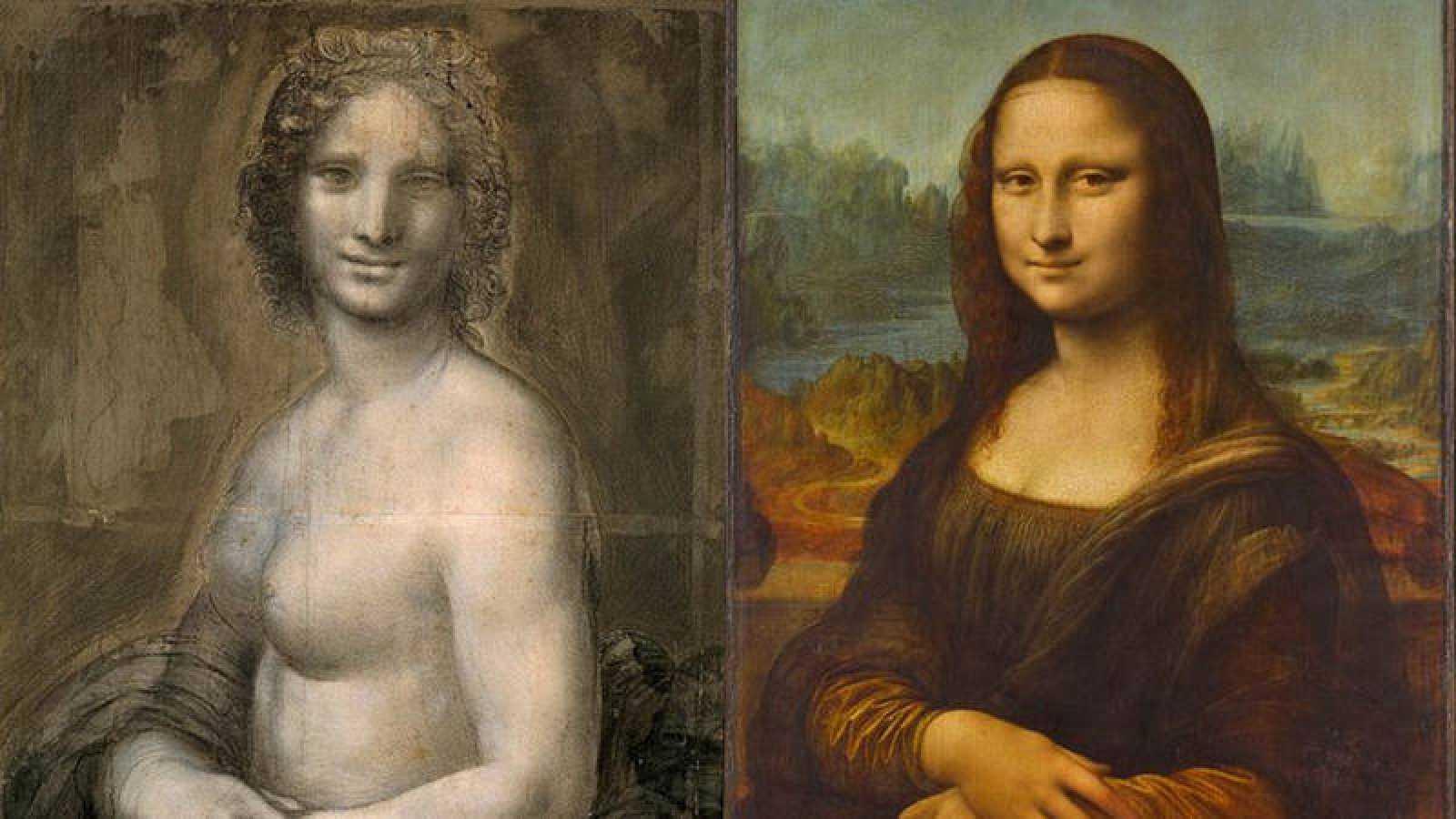 A la izquierda, la Gioconda de Chantilly; a la derecha, la Gioconda del Louvre.