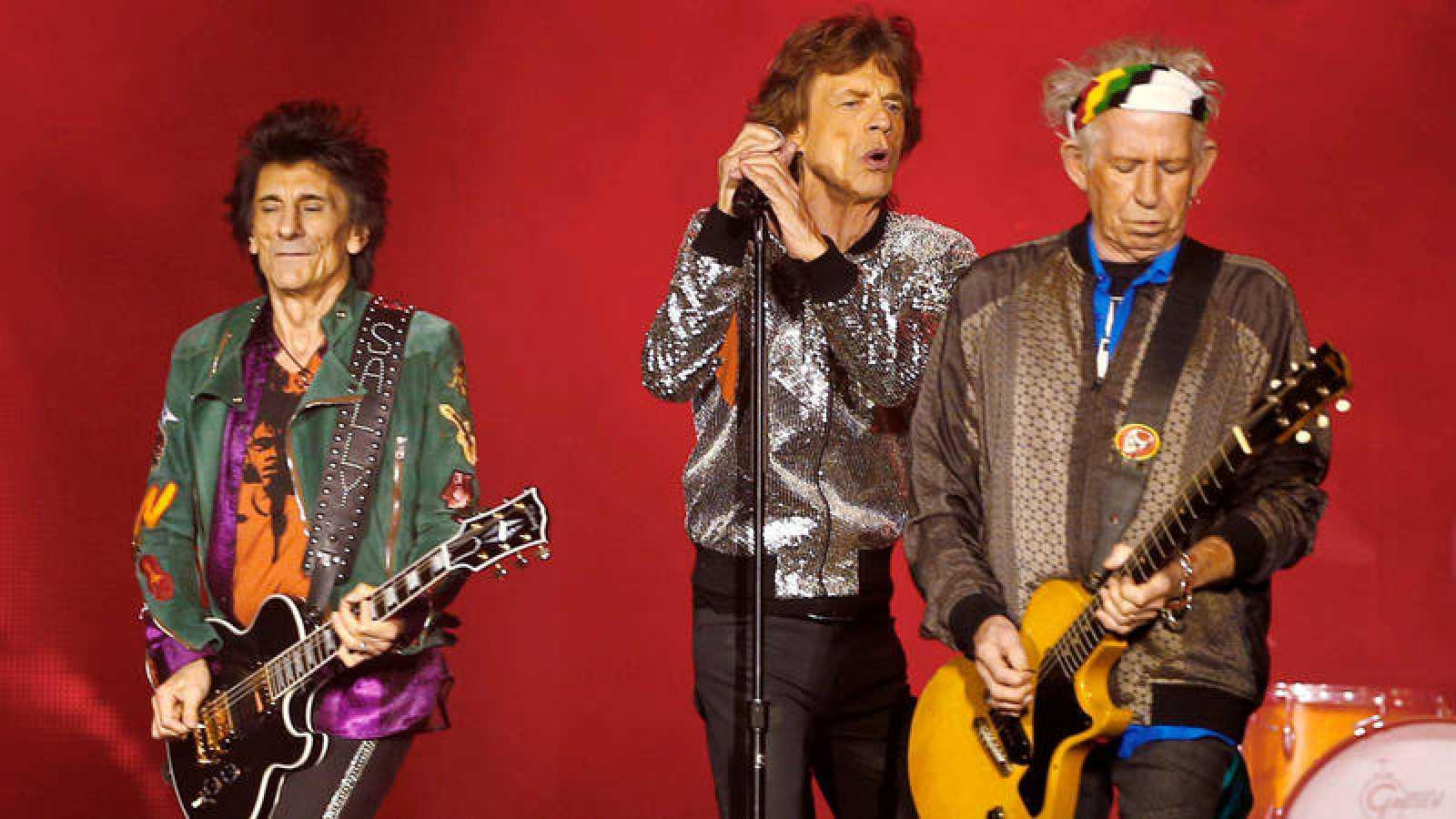 Ron Wood, Mick Jagger y Keith Richards durante un concierto de los Rolling Stones en Hamburgo en septiembre de 2017