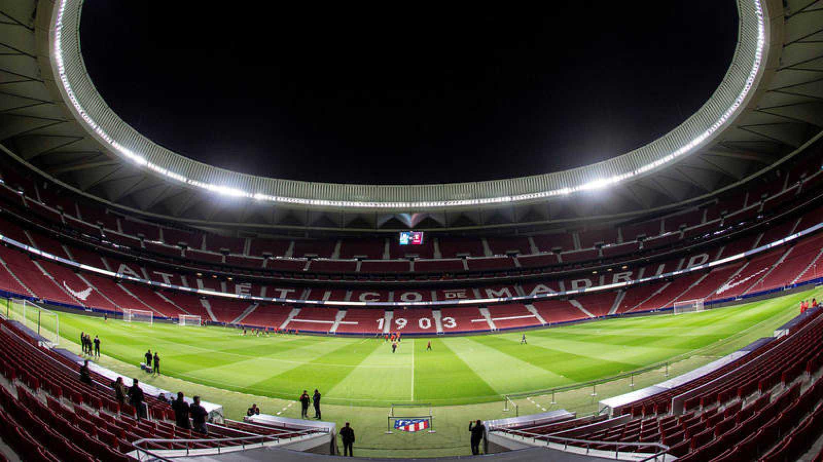 Imagen del Wanda Metropolitano, sede de la final de la Champions.