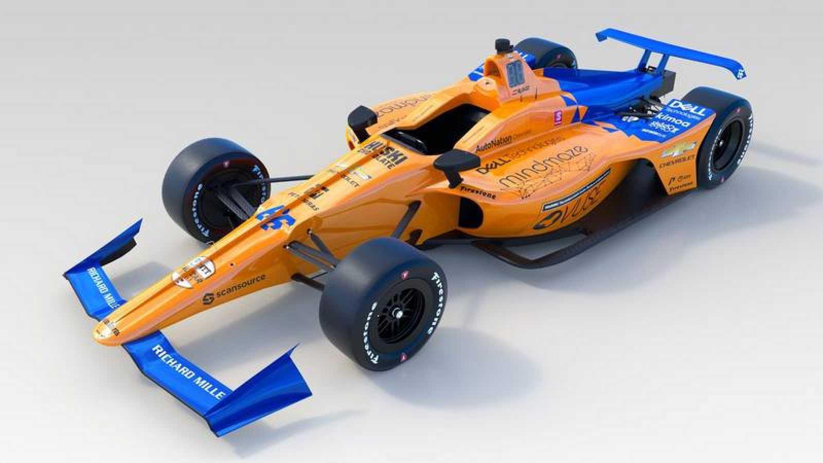 Imagen del McLaren66 con el que Fernando Alonso tratará de ganar las 500 Millas de Indianápolis.