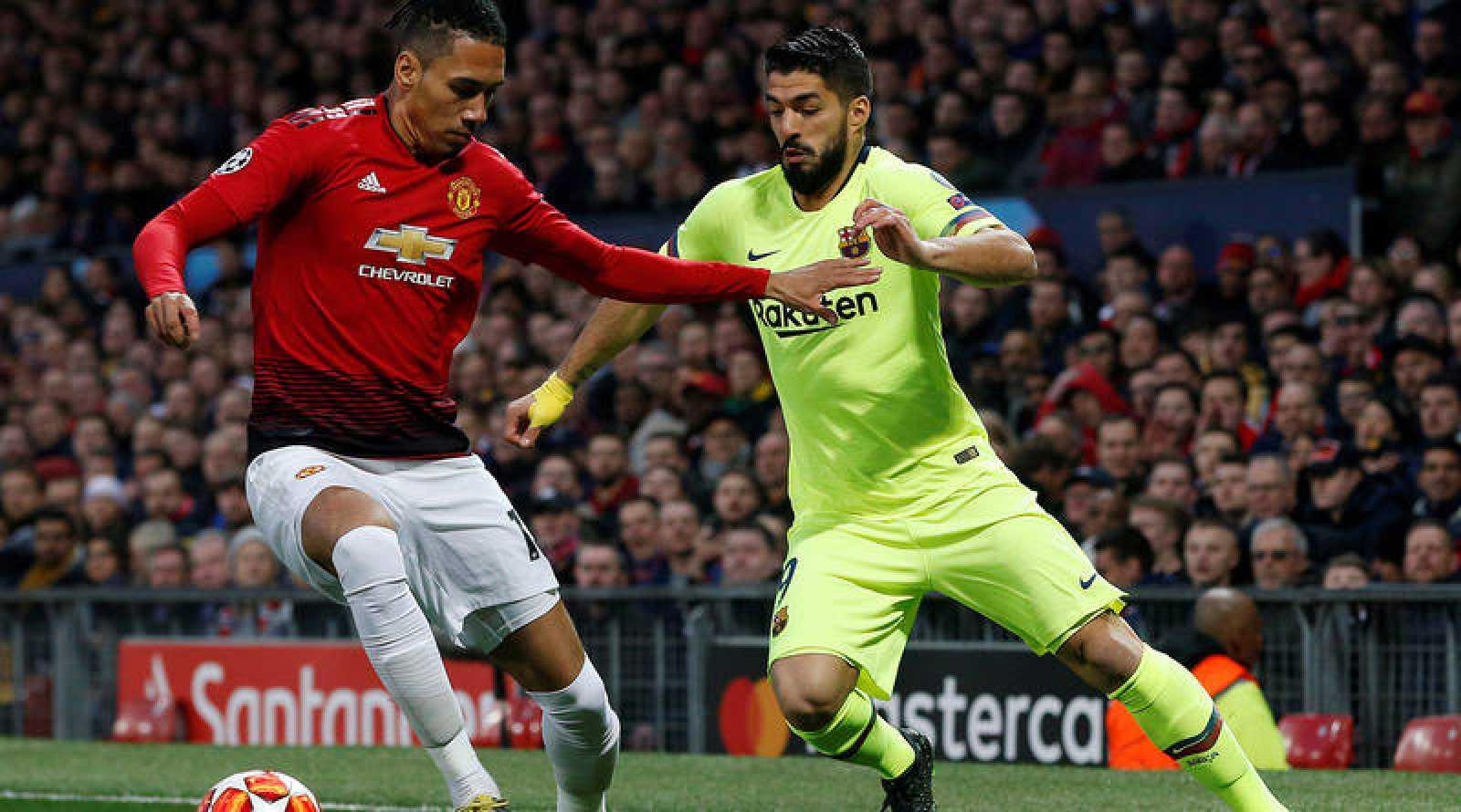 Barcelona y Manchester United disputan la ida de los cuartos de final de la Champions.