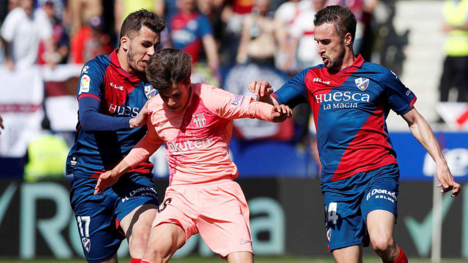 El Barça presume de cantera pero se deja dos puntos ante el Huesca