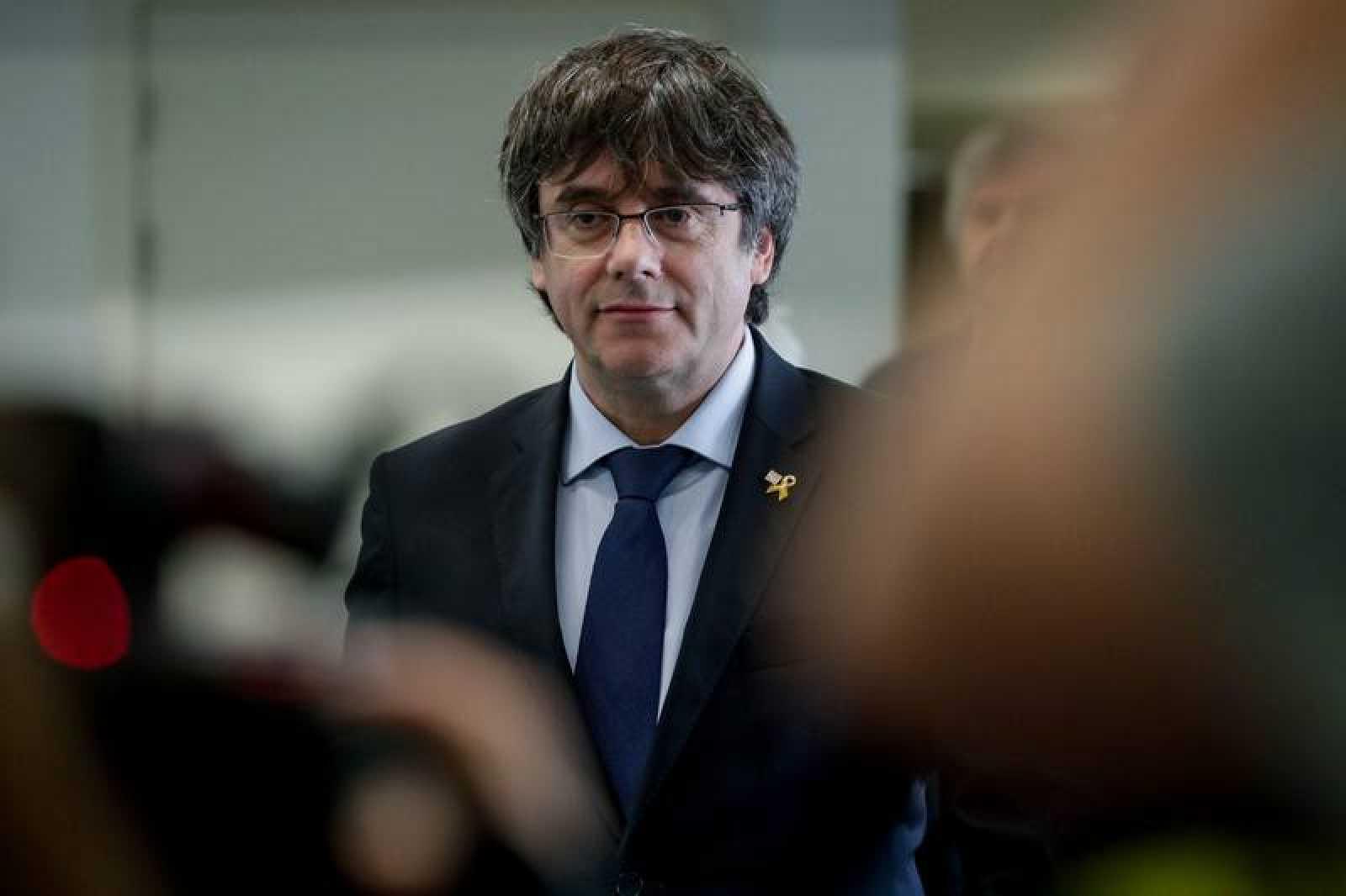 Carles Puigdemont, durante la presentación de su candidatura a las europeas