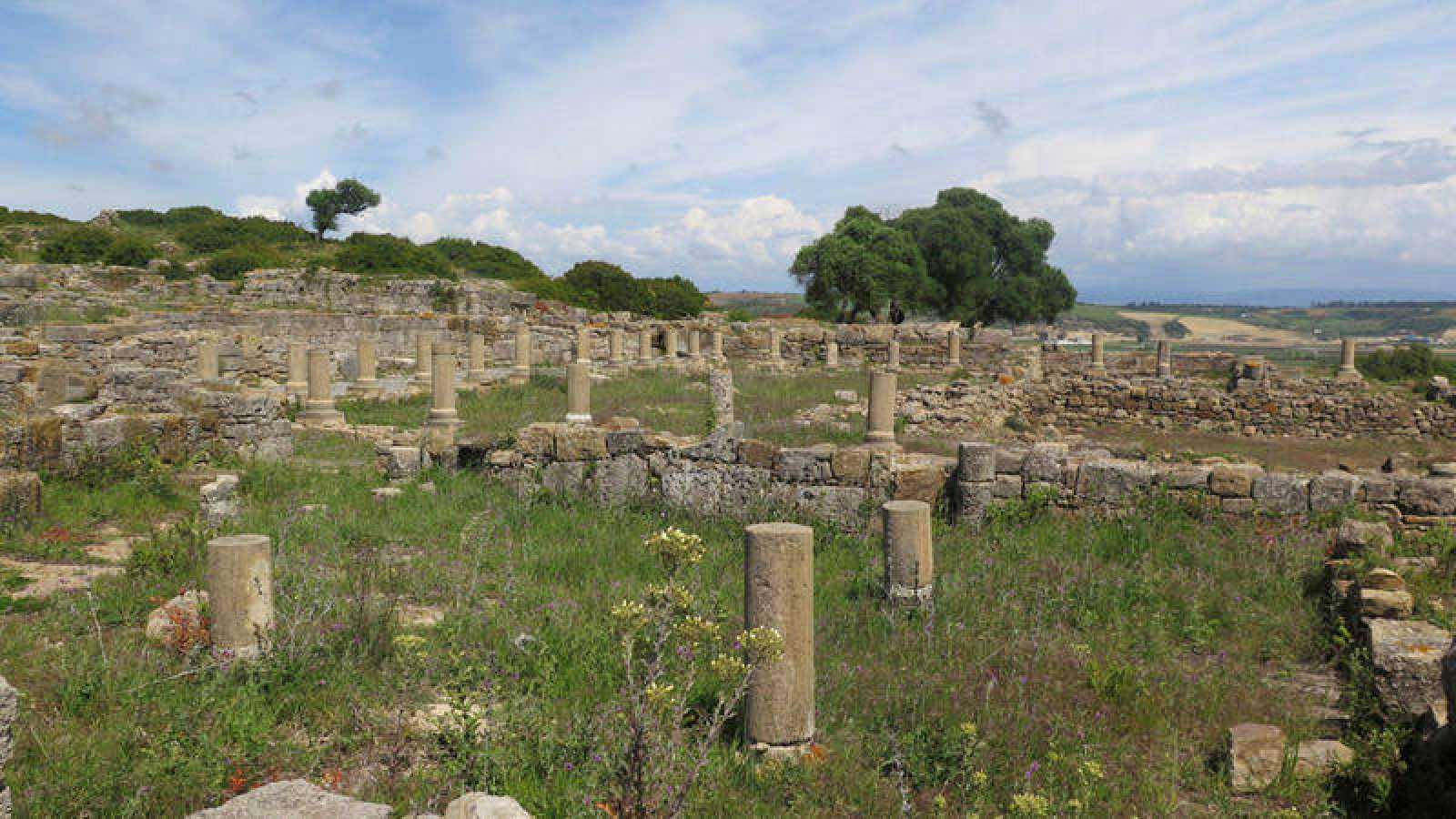 Vista general de la ciudad romana de Lixus, en el norte de Marruecos