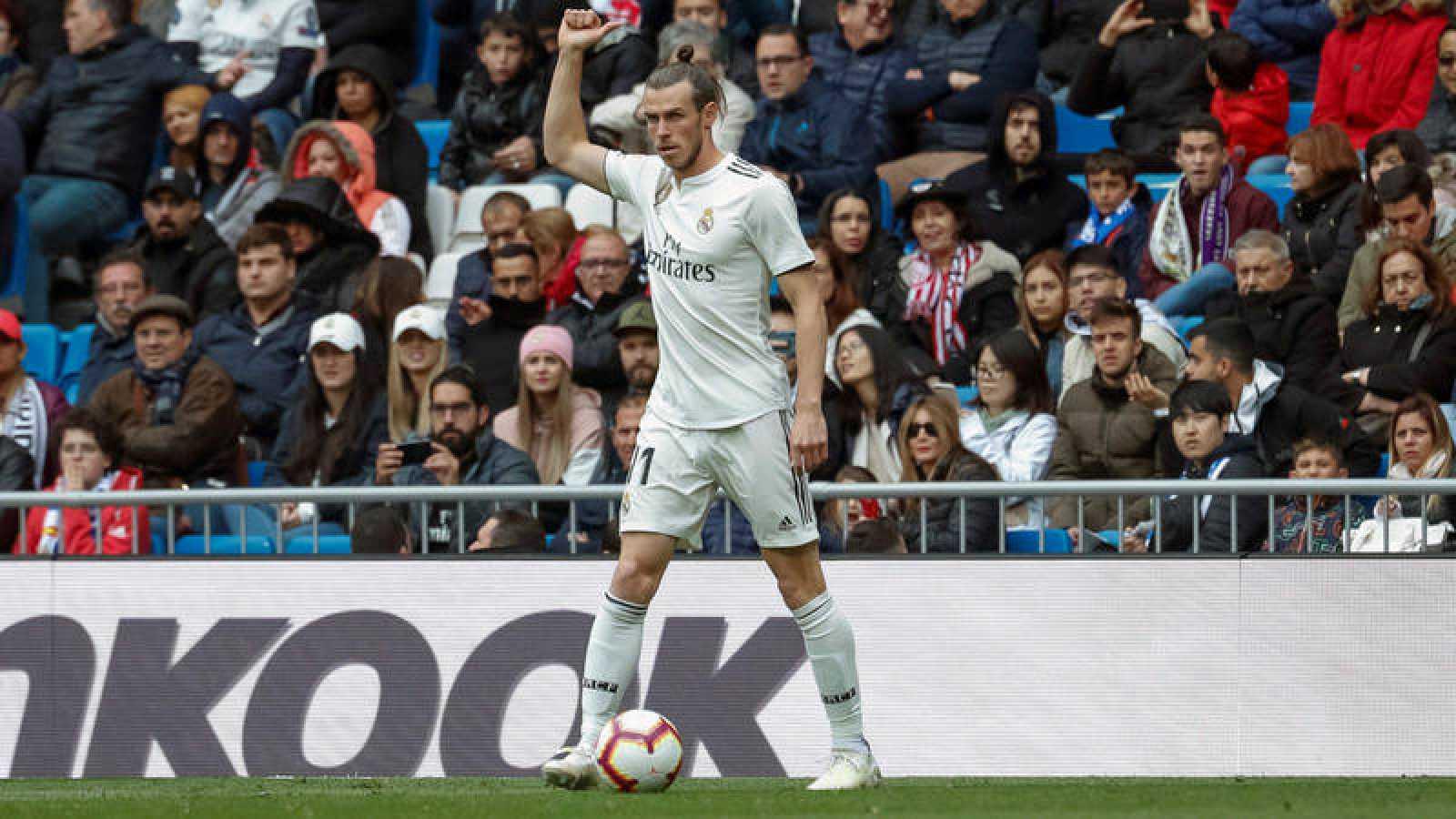 El jugador galés del Real Madrid Gareth Bale, durante el partido contra el Athletic Club de Bilbao.