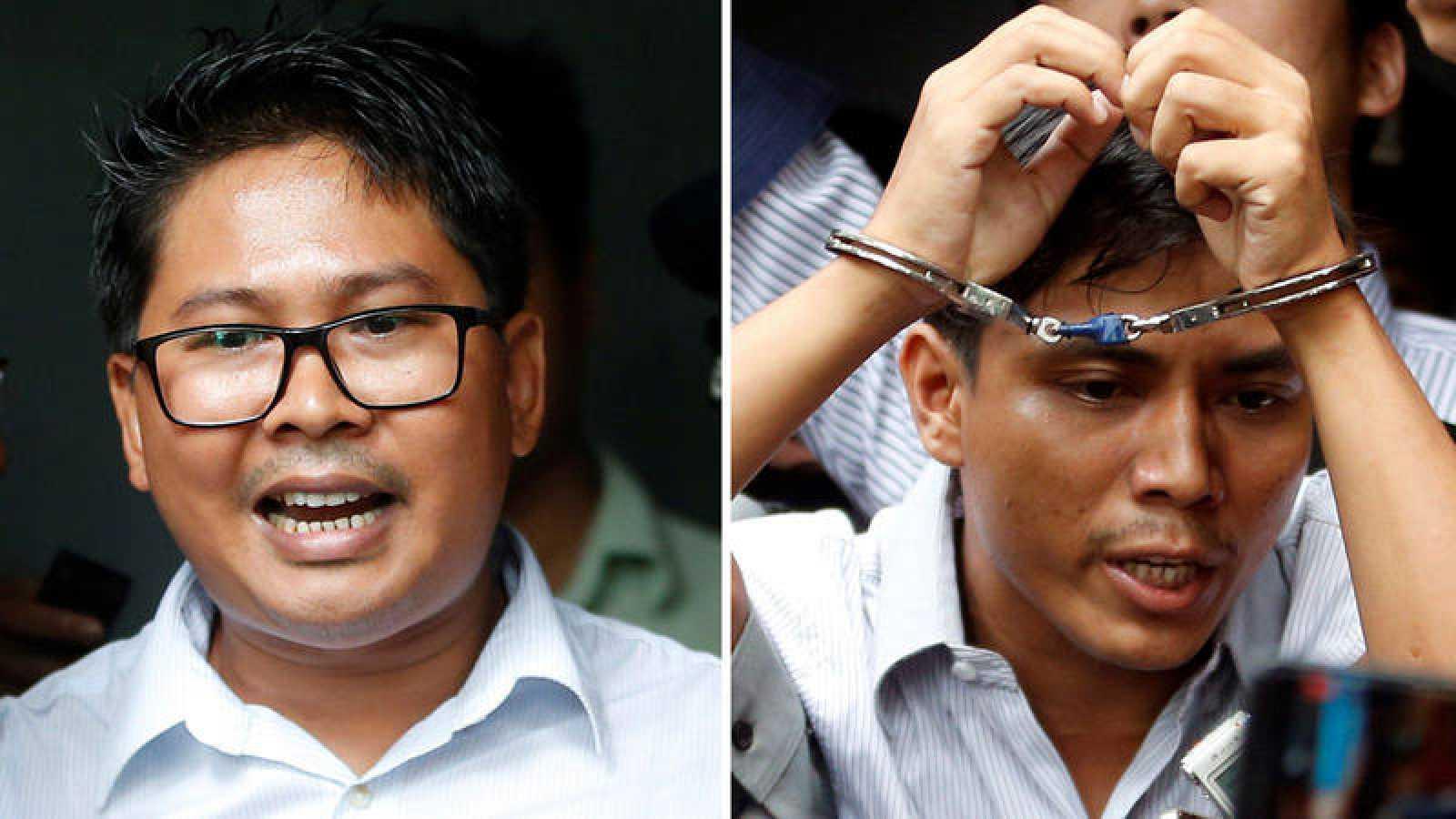 Los periodistas de Reuters Wa Lone y Kyaw Soe Oo