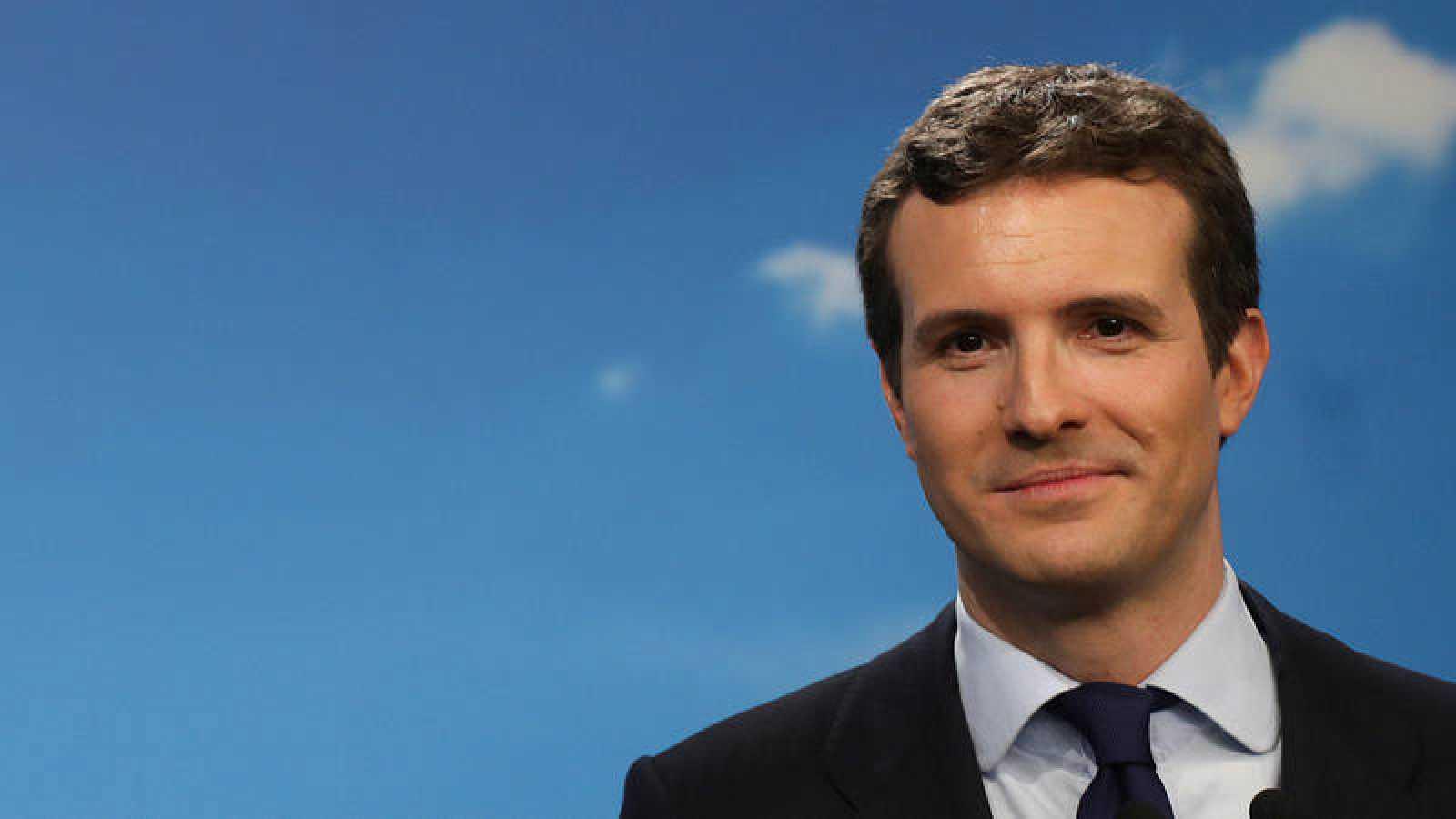 El presidente del PP y candidato a la Presidencia, Pablo Casado