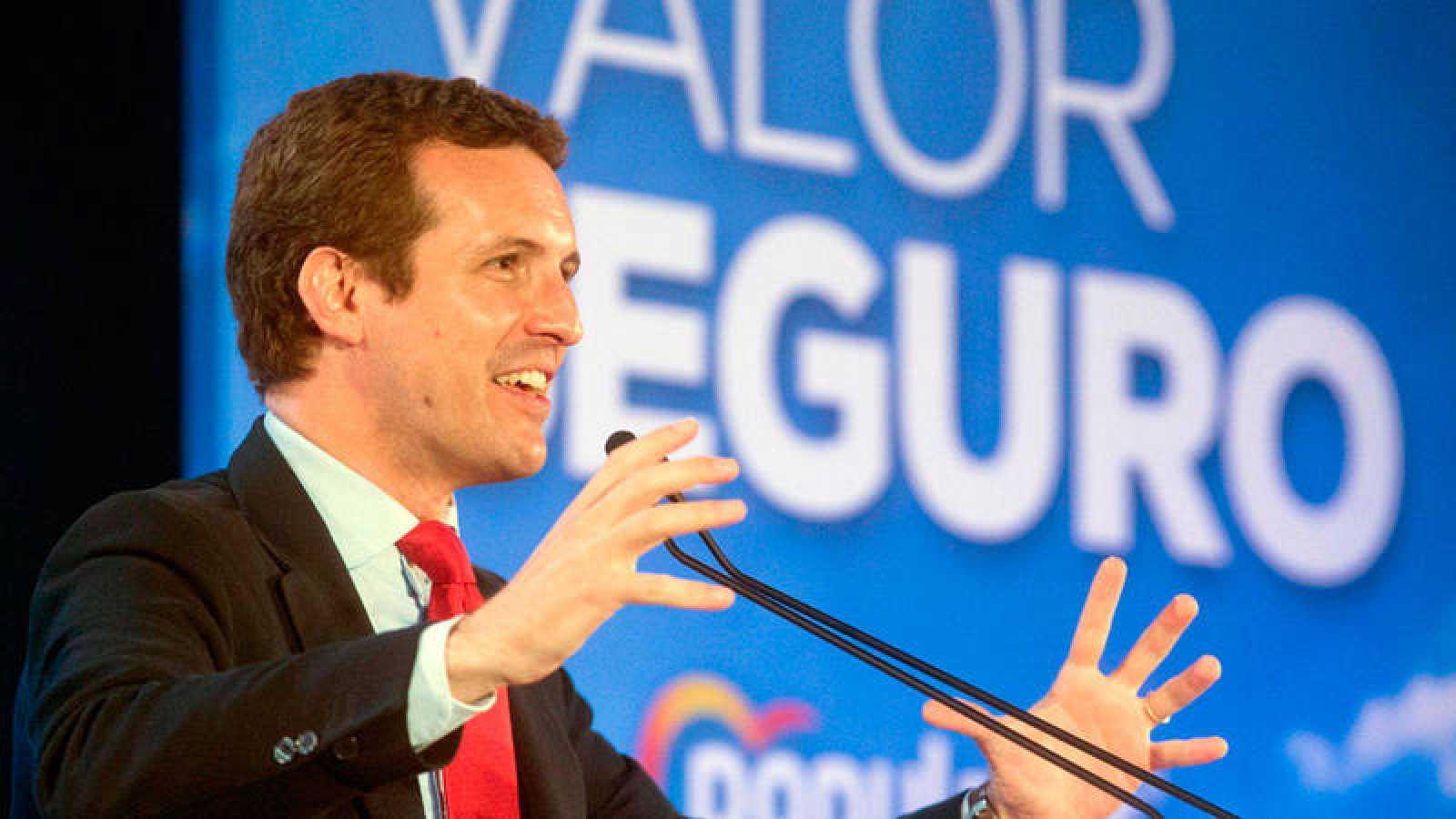 El presidente del PP y candidato a las elecciones generales 2019, Pablo Casado