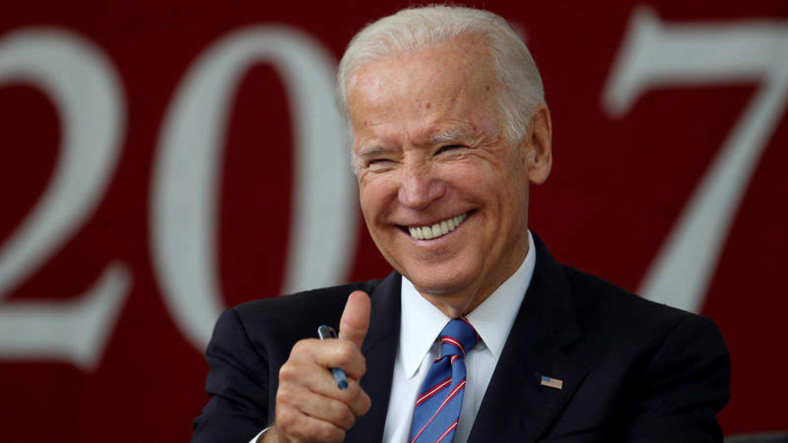 Joe Biden durante un acto en la Universidad de Harvard en Cambridge, Massachusetts, el 24 de mayo de 2017