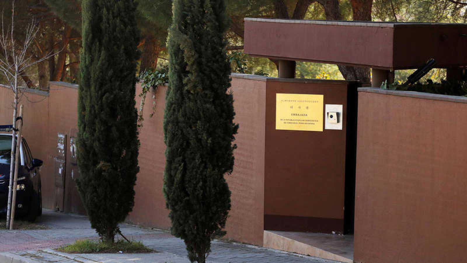 Imagen de la embajada norcoreana en Madrid, asaltada el pasado 22 de febrero