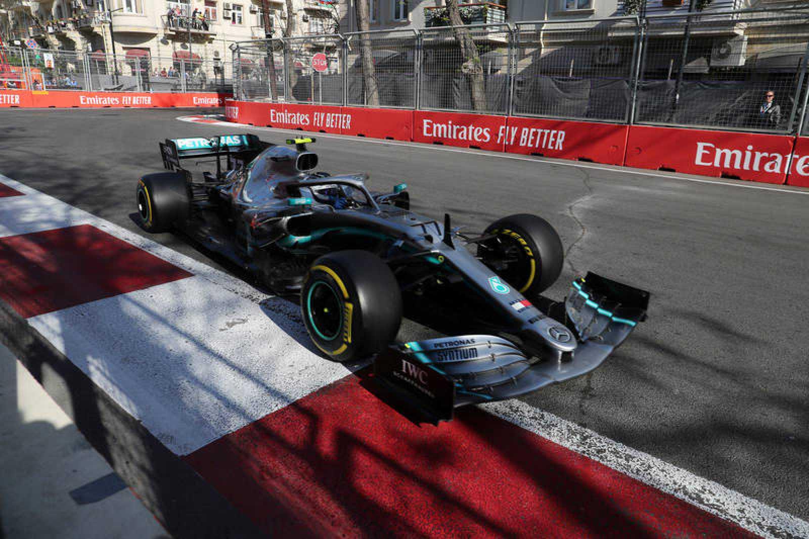 Bottas, en el circuito de Bakú