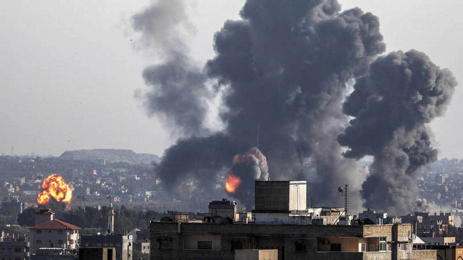 La Franja de Gaza tras los bombardeos de Israel