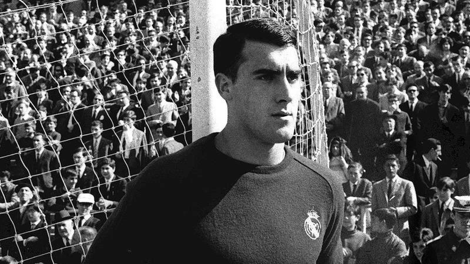 Andrés Junquera, en una imagen de su etapa como portero del Real Madrid.