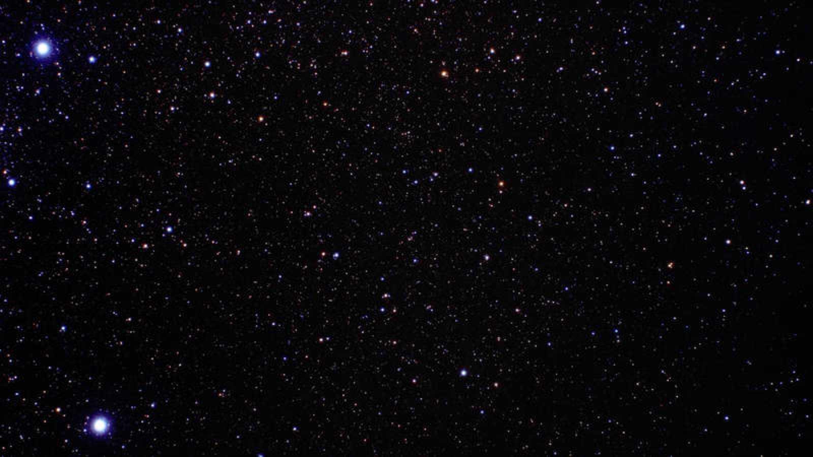 Fragmento del mosaico de Galaxias compuesto a partir de las fotografías del telescopio Hubble.