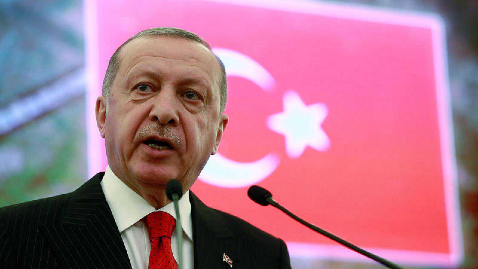 El presidente turco,Recep Tayyip Erdogan, durante un acto este lunes en Ankara.