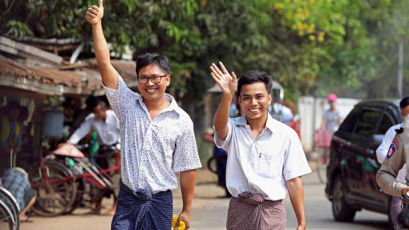 Liberados los dos periodistas de Reuters