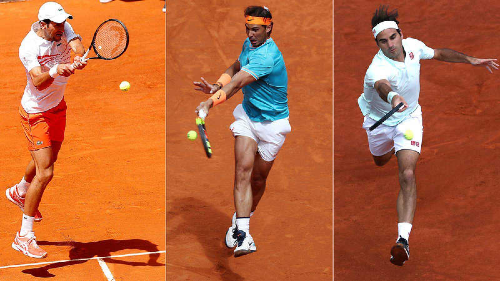 Djokovic, Nadal y Federer juegan este jueves los octavos de final del Madrid Open.