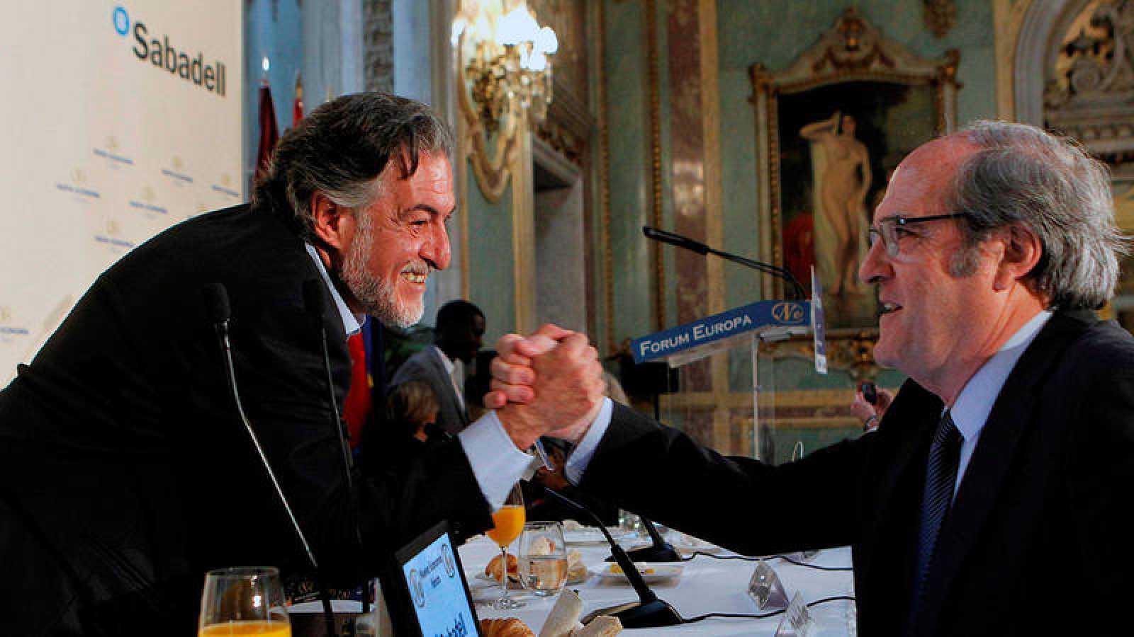 Los candidatos del PSOE al Ayuntamiento y a la Comunidad de Madrid, José Vicente 'Pepu' Hernández y Ángel Gabilondo.